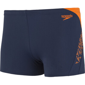 speedo Boom Splice Short de bain Homme, navy/orange
